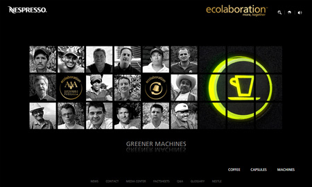 Nespresso Greener machines (ecolaboration)
