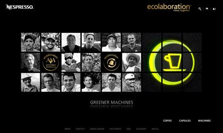 Nespresso Greener machines (ecolaboration)