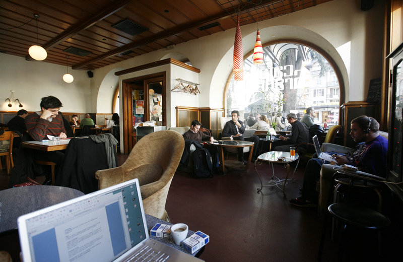 Chill working - Café de Grancy © Stéphanie Meylan