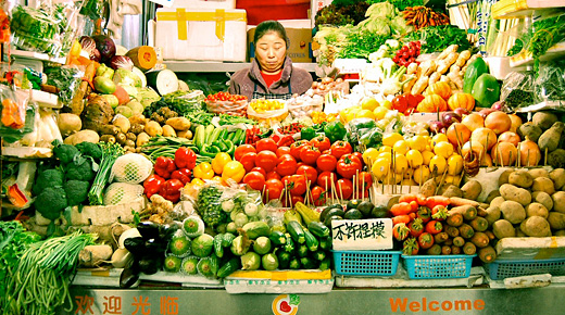 Fruits & Vegetables - Creative Commons Flickr user foxxyz