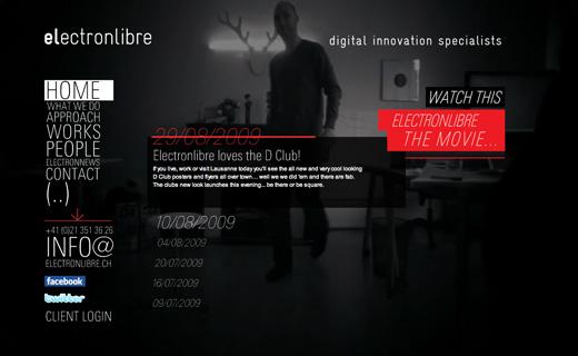 Site web Electon Libre - agence créative