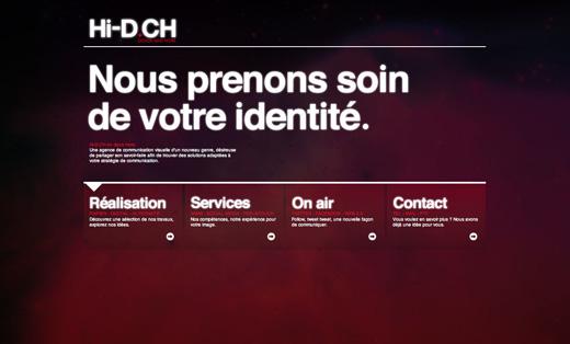 Site web Hi-d - agence visuelle