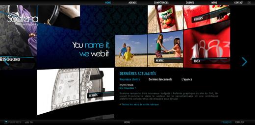 Site web Scalena - agence de communication