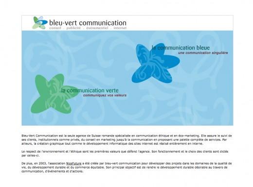 Bleu Vert Communications Lausanne