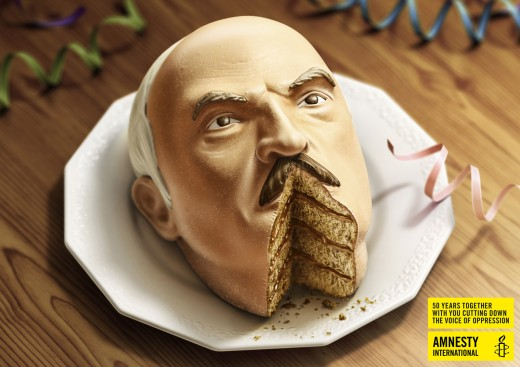 Affiche Amnesty International - Lukshenko