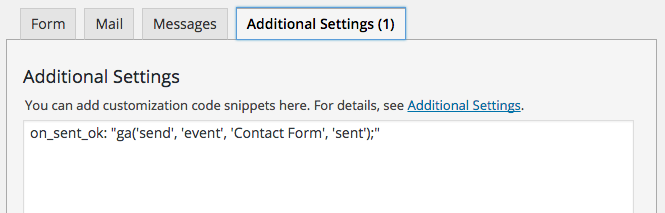 Tracking form submissions with Contact Form 7